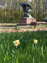 Pomnik Chopina na wiosnę 2017
