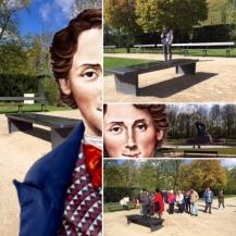 Selfie z Chopinem w Łazienkach