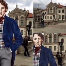 Selfie z Chopinem przy Muzeum Chopina
