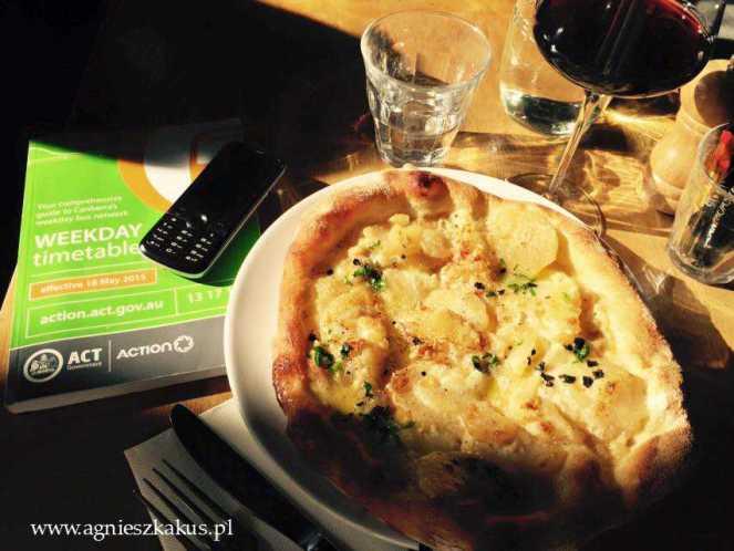 pizza z ziemniakami i truflami, Silo