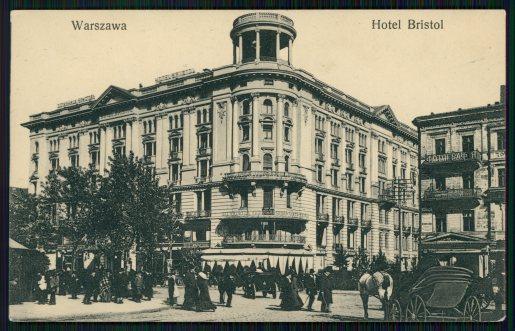 Jan Raczyński, Hotel Bristol, pocztówka z ok. 1911, Polona (cyfrowe zbiory Biblioteki Narodowej)