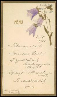 Historyczne menu z hotelu Bristol, Polona (cyfrowe zbiory Biblioteki Narodowej)