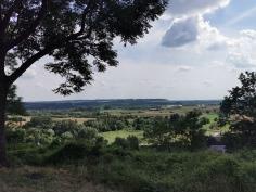 Widok z parku w Janowcu
