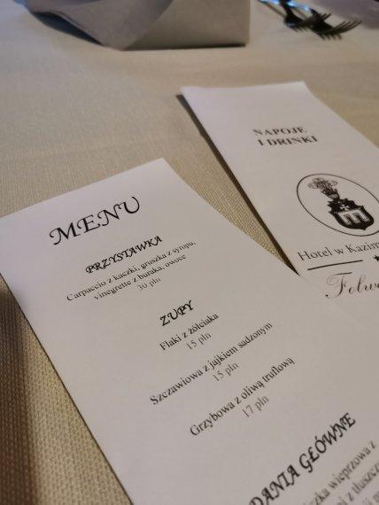 Żółciak w menu w Folwark Walencja
